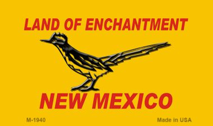 Road Runner Yellow New Mexico Novelty Magnet
