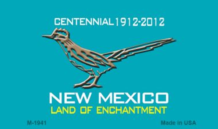 Road Runner Teal New Mexico Novelty Magnet