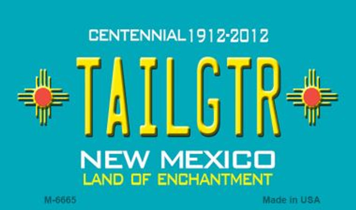 Tailgtr New Mexico Novelty Magnet