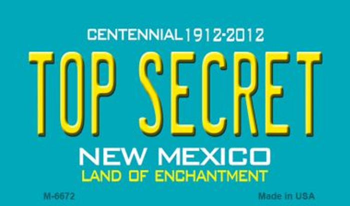 Top Secret New Mexico Novelty Magnet