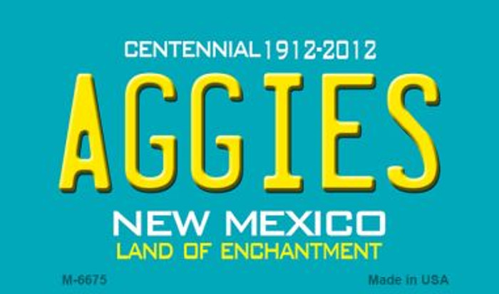 Aggies New Mexico Novelty Magnet