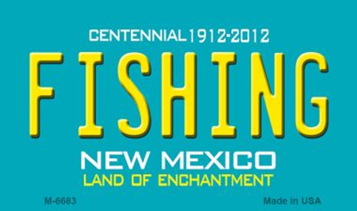 Fishing New Mexico Novelty Magnet