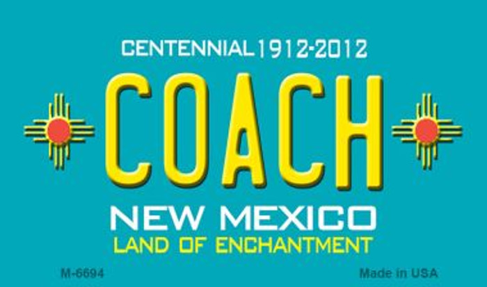 Coach New Mexico Novelty Magnet
