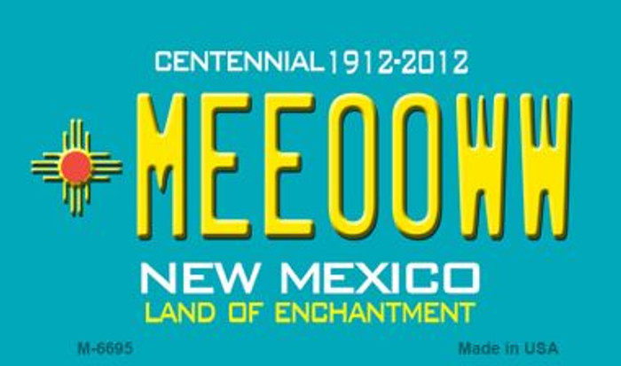 Meeooww New Mexico Novelty Magnet