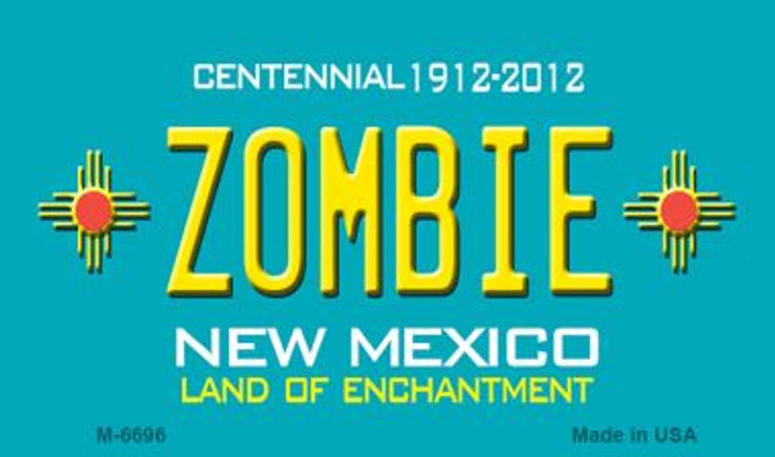 Zombie New Mexico Novelty Magnet