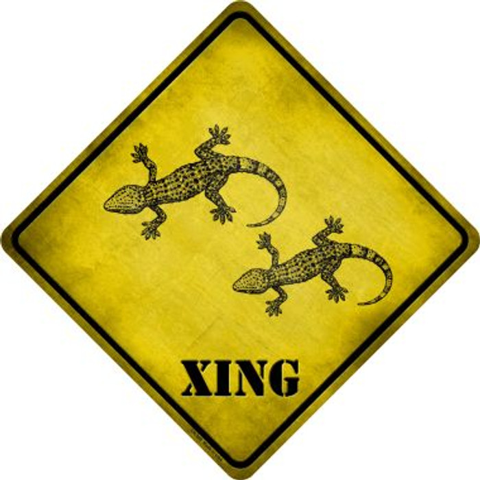 Gecko Xing Novelty Crossing Sign