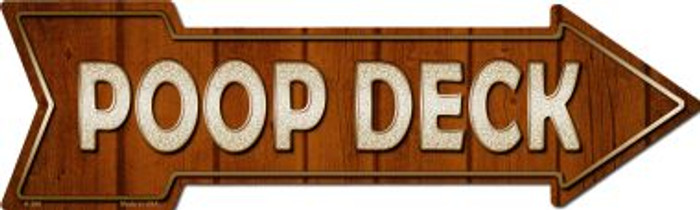 Poop Deck Novelty Arrow Sign