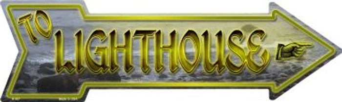 To Lighthouse Novelty Arrow Sign