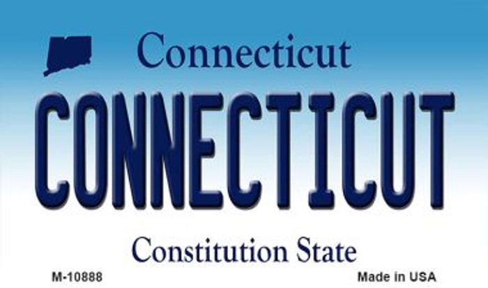 Connecticut State License Plate Magnet M-10888