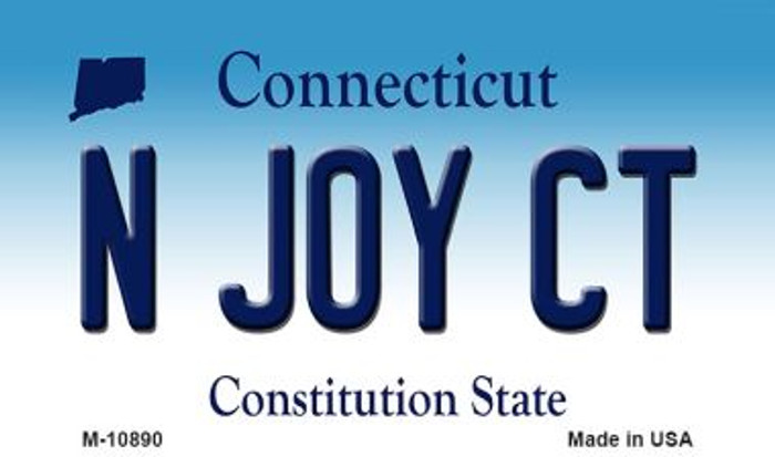 N Joy CT Connecticut State License Plate Magnet M-10890