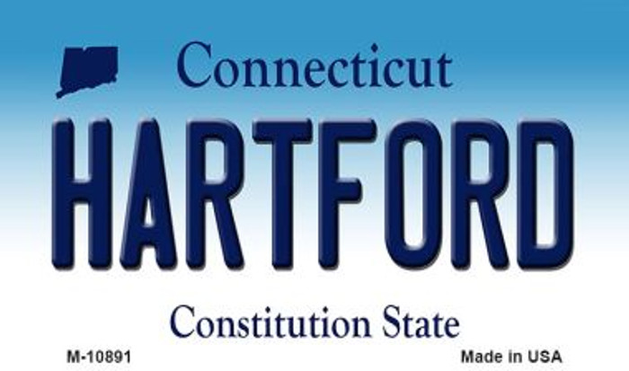 Hartford Connecticut State License Plate Magnet M-10891