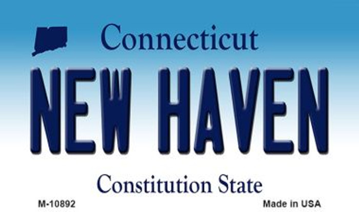 New Haven Connecticut State License Plate Magnet M-10892