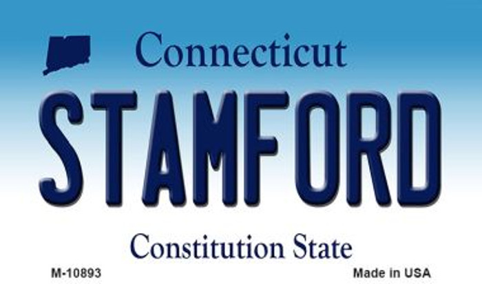 Stamford Connecticut State License Plate Magnet M-10893