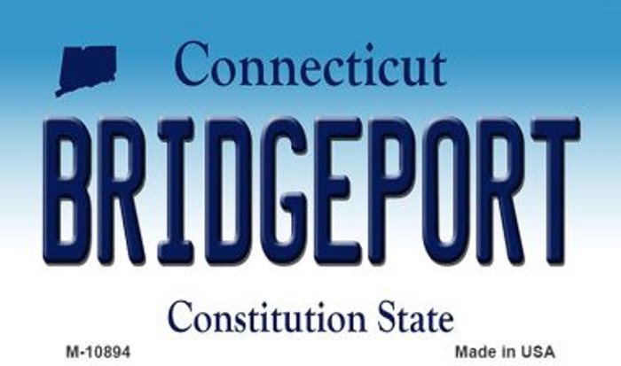 Bridgeport Connecticut State License Plate Magnet M-10894