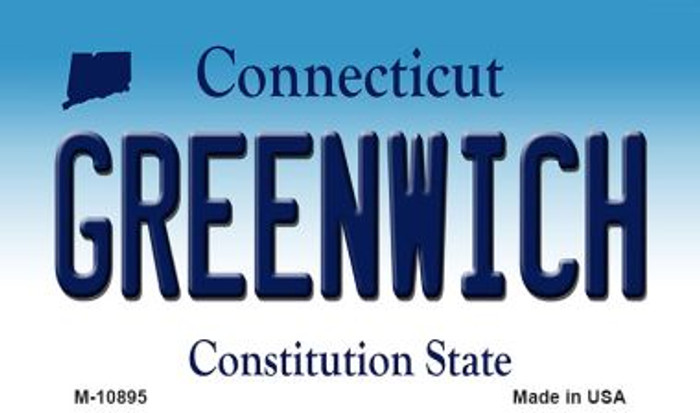Greenwich Connecticut State License Plate Magnet M-10895