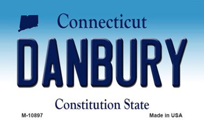 Danbury Connecticut State License Plate Magnet M-10897