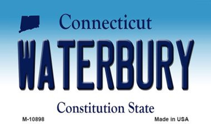 Waterbury Connecticut State License Plate Magnet M-10898