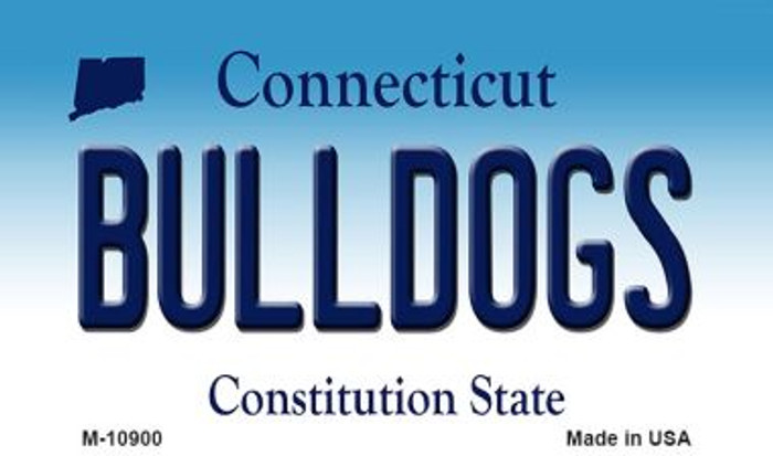 Bulldogs Connecticut State License Plate Magnet M-10900