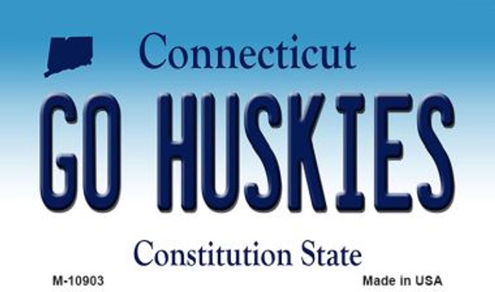 Go Huskies Connecticut State License Plate Magnet M-10903