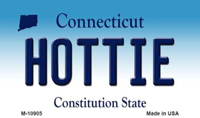 Hottie Connecticut State License Plate Magnet M-10905