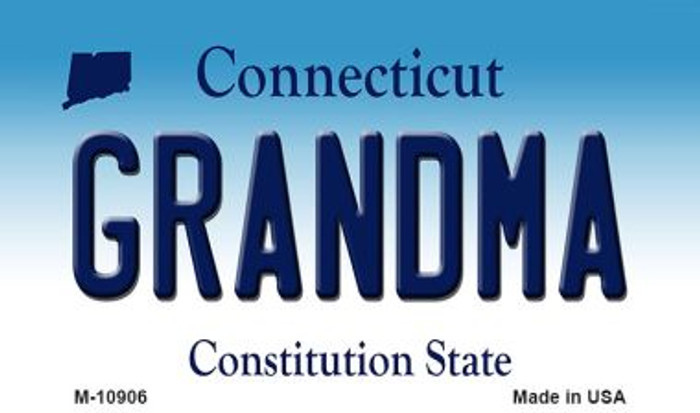 Grandma Connecticut State License Plate Magnet M-10906