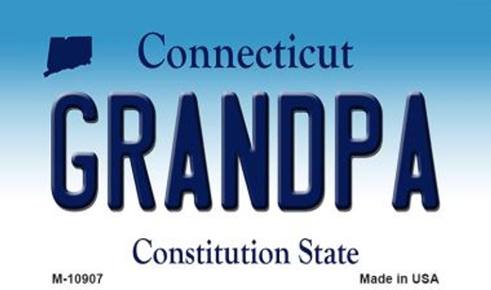 Grandpa Connecticut State License Plate Magnet M-10907