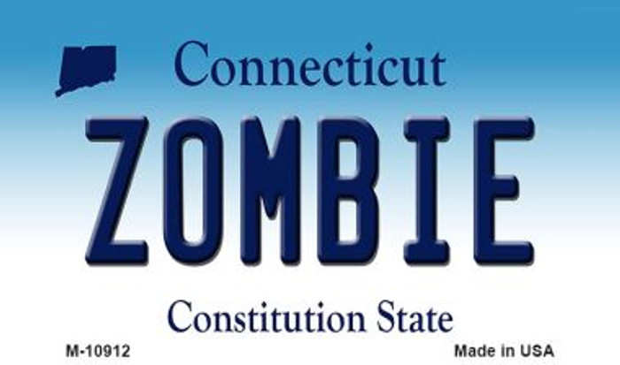 Zombie Connecticut State License Plate Magnet M-10912