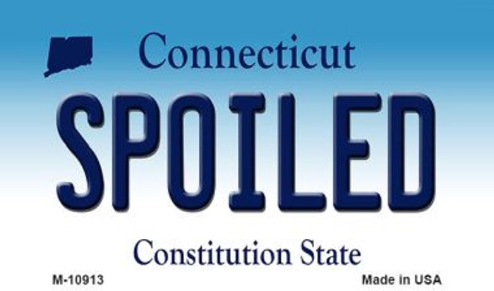 Spoiled Connecticut State License Plate Magnet M-10913