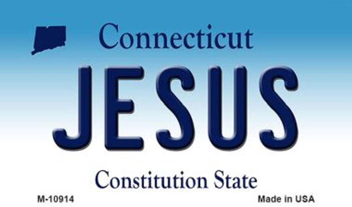 Jesus Connecticut State License Plate Magnet M-10914