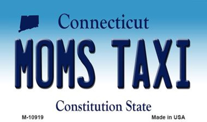 Moms Taxi Connecticut State License Plate Magnet M-10919