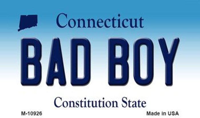 Bad Boy Connecticut State License Plate Magnet M-10926