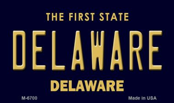 Delaware State License Plate Magnet M-6700