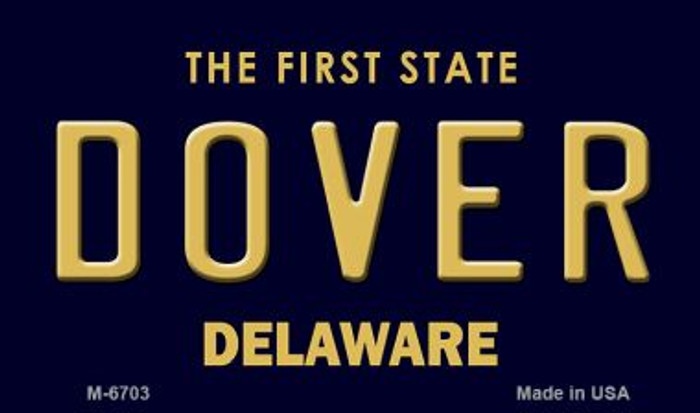 Dover Delaware State License Plate Magnet M-6703