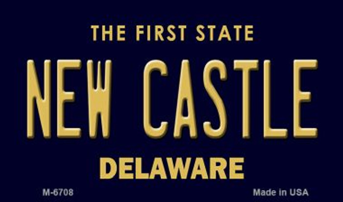 New Castle Delaware State License Plate Magnet M-6708