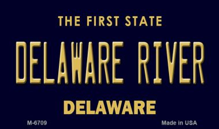 Delaware River State License Plate Magnet M-6709