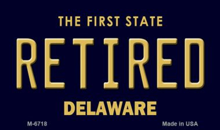 Retired Delaware State License Plate Magnet M-6718