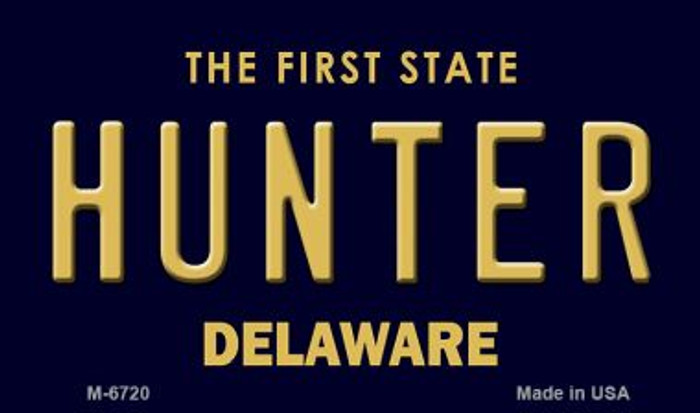 Hunter Delaware State License Plate Magnet M-6720