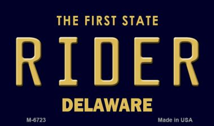 Rider Delaware State License Plate Magnet M-6723