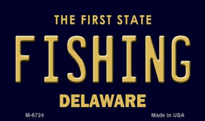 Fishing Delaware State License Plate Magnet M-6724
