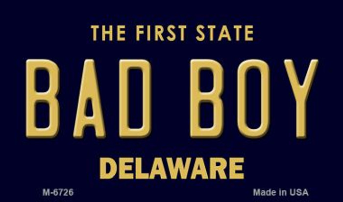 Bad Boy Delaware State License Plate Magnet M-6726