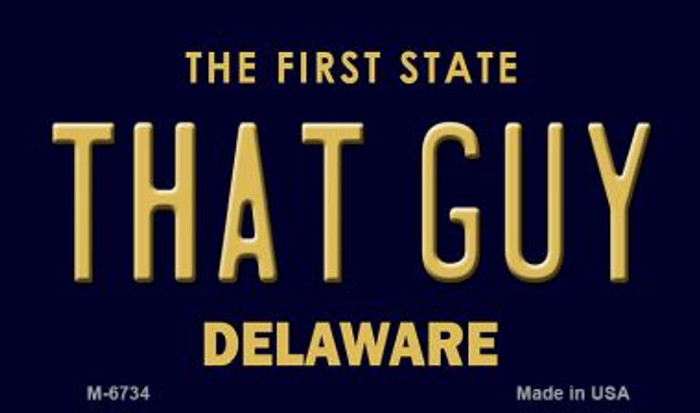 That Guy Delaware State License Plate Magnet M-6734