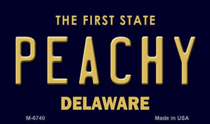 Peachy Delaware State License Plate Magnet M-6740