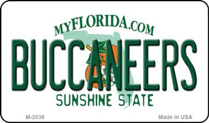 Buccaneers Florida State License Plate Magnet M-2038