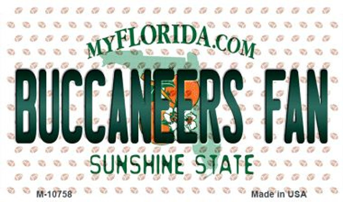 Buccaneers Fan Florida State License Plate Magnet M-10758