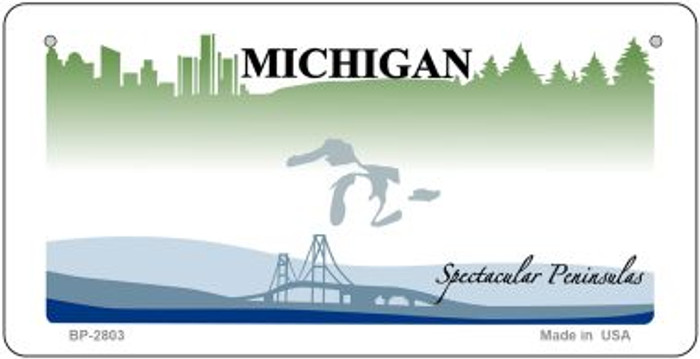 Michigan State Background Novelty Bicycle License Plate