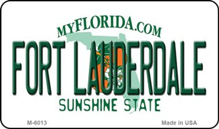 Fort Lauderdale Florida State License Plate Magnet M-6013