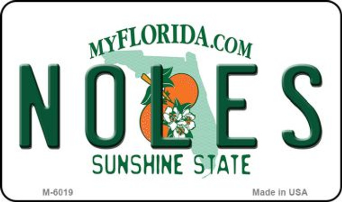 Noles Florida State License Plate Magnet M-6019