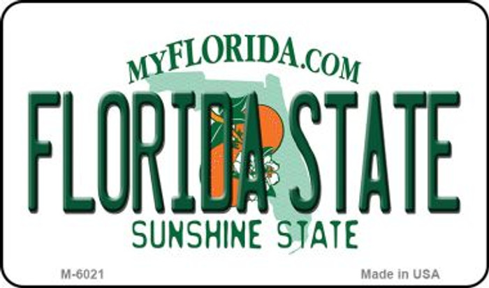 Florida State University State License Plate Magnet M-6021