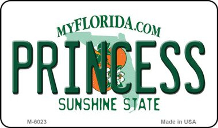 Princess Florida State License Plate Magnet M-6023