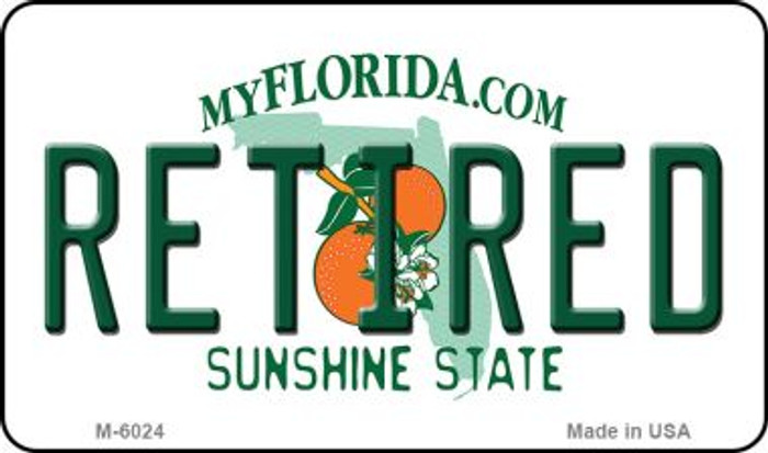 Retired Florida State License Plate Magnet M-6024